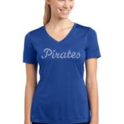 Matanzas Baseball Blue Ladies V Neck