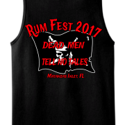 Rum Fest 2017 Mens Black Tank Top Back
