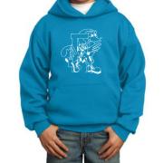 Neon Blue Hoodie Youth