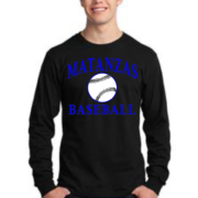 Matanzas Baseball Black Long Sleeve Cotton Tee