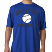 Matanzas Baseball Blue Moisture Wicking Tee