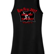 Rum Fest 2017 Ladies Black Tank Top Back
