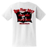 Rum Fest 2017 White Pocket Tee Back